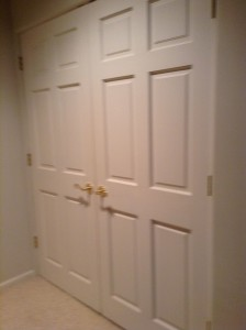 doors to washer dryer area