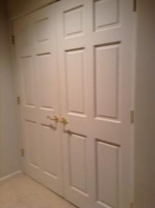 doors to washer dryer area