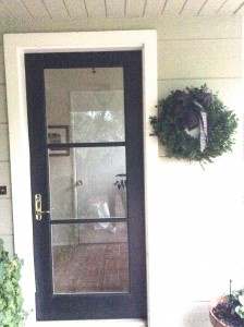 Front door with beveled glass