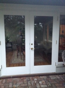 French doors to dining room