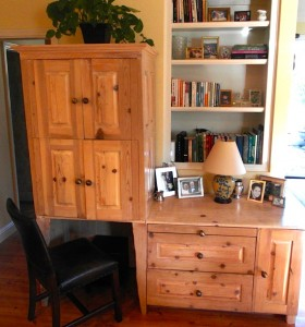 This desk was made for my daughter Kristy and her hubby, Mike