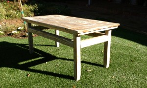 Coffee table to match bed and dining table and benches
